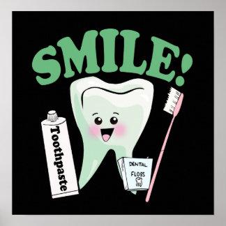 Smile Dentist Office Art Poster