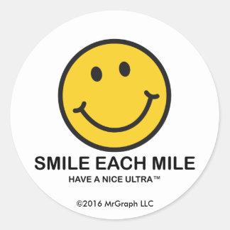 "Smile Each Mile / ""Nice Ultra"" Sticker"