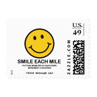 "Smile Each Mile / ""Pep In Step"" Postage Stamp"