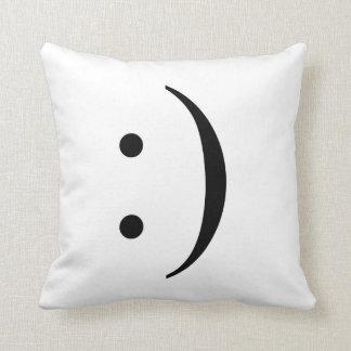 Smile emote throw pillow
