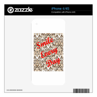Smile Every Day iPhone 4S Skins