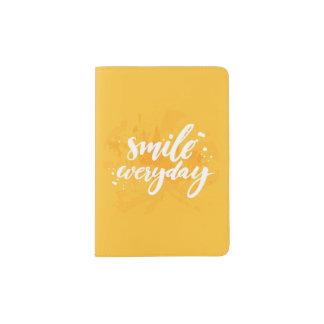 Smile Everyday Passport Holder