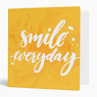 Smile Everyday Vinyl Binder