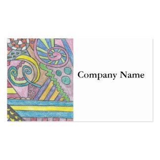 Smile Face Abstract Business Cards
