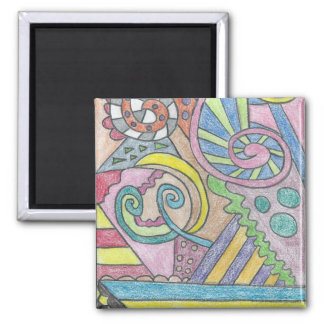 Smile Face Abstract Magnet
