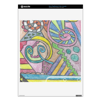 Smile Face Abstract PlayStation 3 Slim Skin PS3 Slim Decal