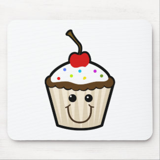 Smile Face Cupcake Mouse Pad