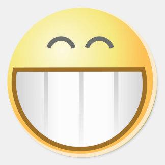 Smile Face Happy Grin Destiny Art Stickers