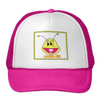 smile face hat