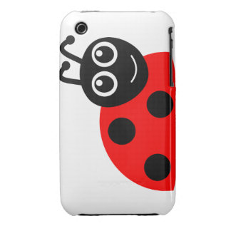 """""""Smile Face Ladybug"""" iPhone 3G/3GS Case Case-Mate iPhone 3 Cases"""