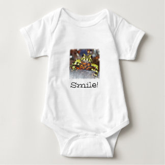 Smile!  Fire belly toad Baby Bodysuit