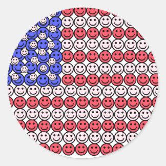 Smile Flag Classic Round Sticker