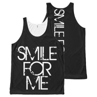Smile For Me All-Over Print Tank Top