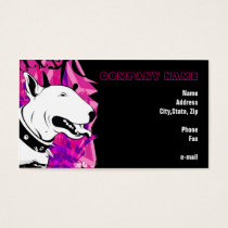 Smile for me! Bull Terrier Illustrated Business Card