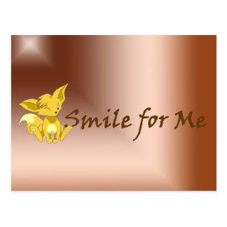 """Smile for Me"" Fox Kit Postcard"