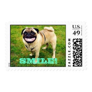 SMILE FUNNY DOG SMILING! POSTAGE