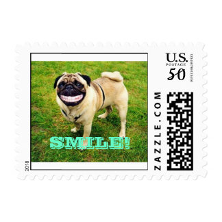 SMILE FUNNY DOG SMILING! stamp very unique