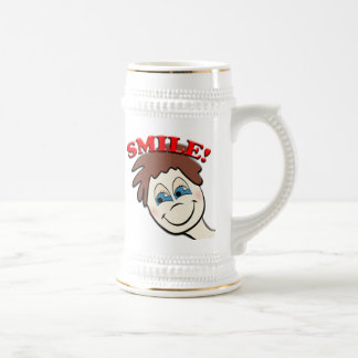 Smile Funny Face Beer Stein