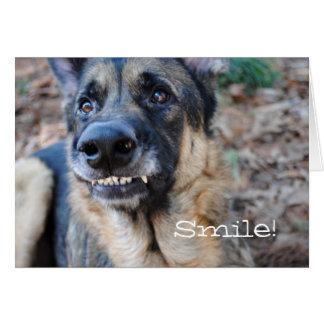 Smile! German Shepherd Its Your Birthday Card