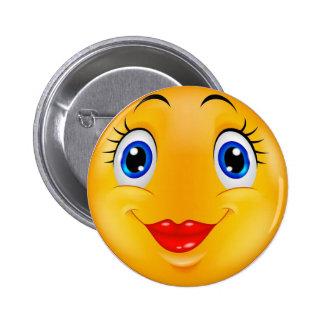 Smile girl button