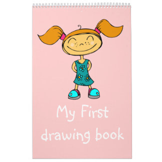 Smile Girl - My First drawing book Wall Calendars