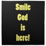 Smile God is Here Napkin