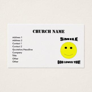 smile god loves you business cards