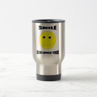 Smile god loves you coffee mug