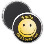 Smile God Loves You Magnets