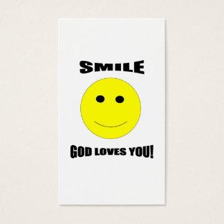 Smile God Loves You Trading Card