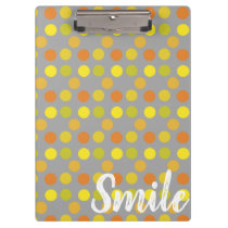Smile Gold Grey Clipboard
