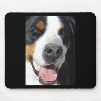 Smile! Greater Swiss Mountain Dog Mouse Pad