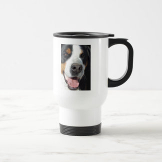 Smile! Greater Swiss Mountain Dog 15 Oz Stainless Steel Travel Mug