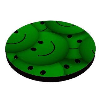 Smile green poker chips set