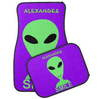 Smile Happy Alien LGM Geek Humor Fun Custom Floor Mat