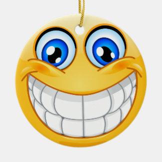 Smile Happy Face Friendship Ornamenet - SRF Ceramic Ornament