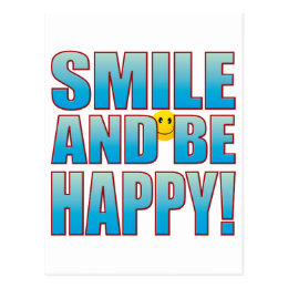 Smile Happy Life B Postcard