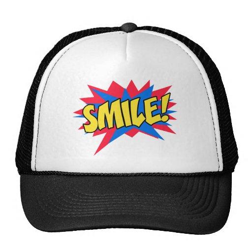 Smile Happy Pop Art Trucker Hat