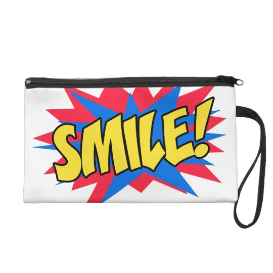 Smile Happy Pop Art Wristlet Purse