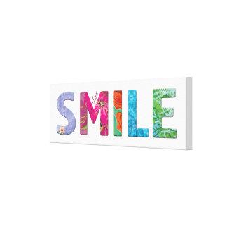 Smile Happy Quote 03 Canvas Print