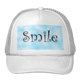 smile-hat trucker hat