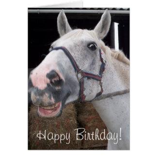 Smile Horse wish Happy Birthday! Card
