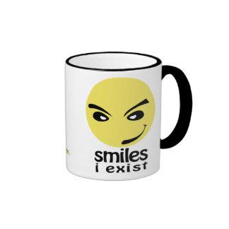 Smile, i exist taza a dos colores