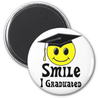 Smile, I Graduated! 2 Inch Round Magnet