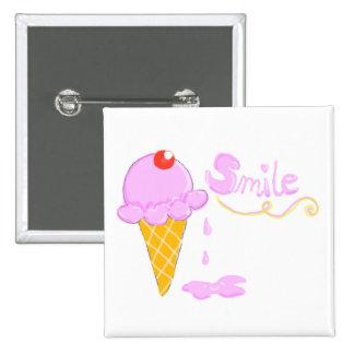 Smile Ice Cream Pins