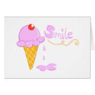 Smile Ice Cream Card