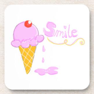 Smile Ice Cream Drink Coaster