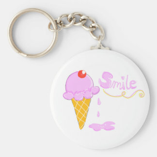 Smile Ice Cream Keychain