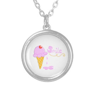 Smile Ice Cream Personalized Necklace