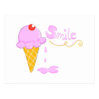 Smile Ice Cream Postcard